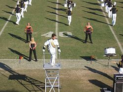 This is a drum major stunt double. It is NOT Bill.