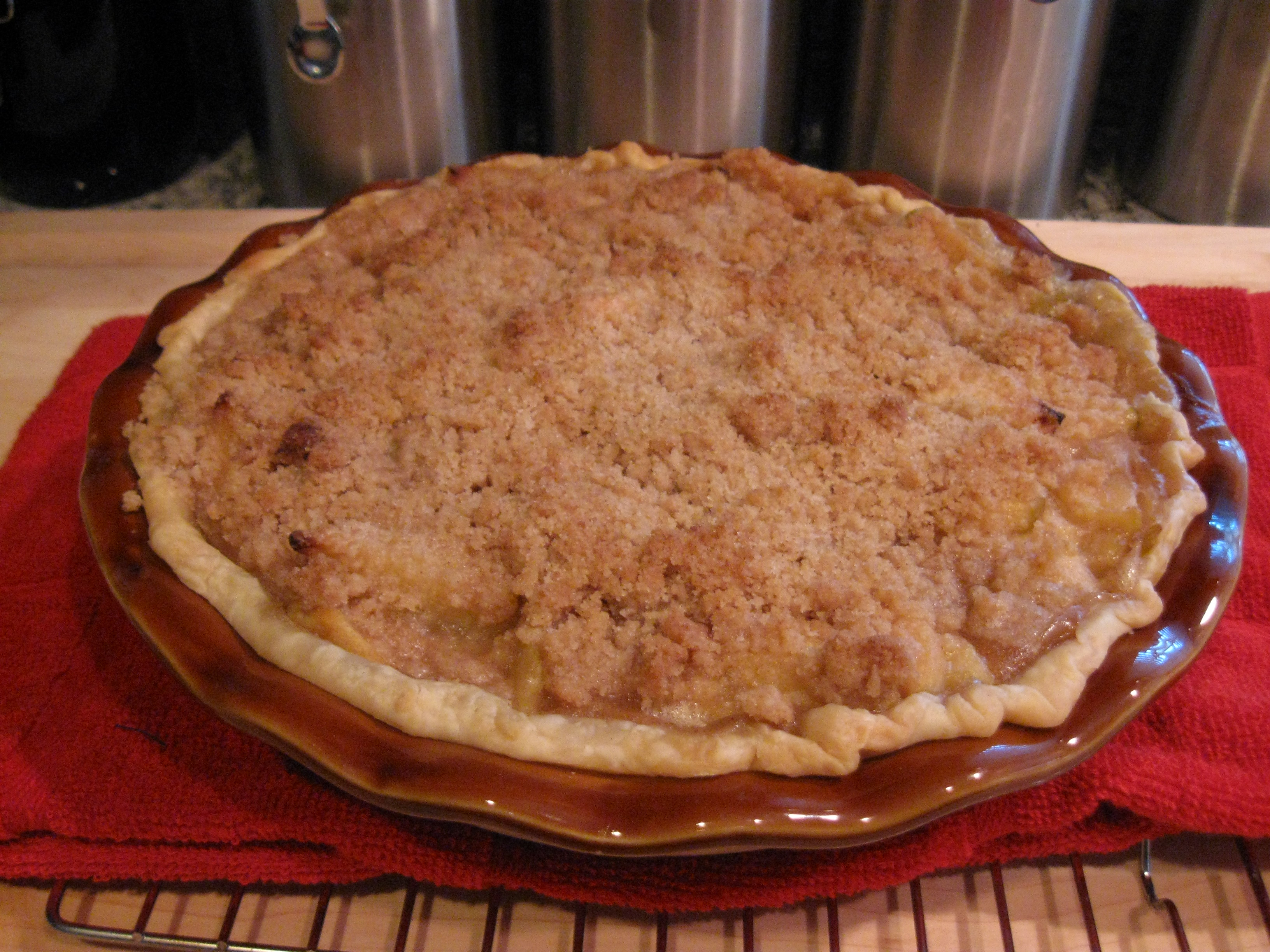 The apple pie I baked...
