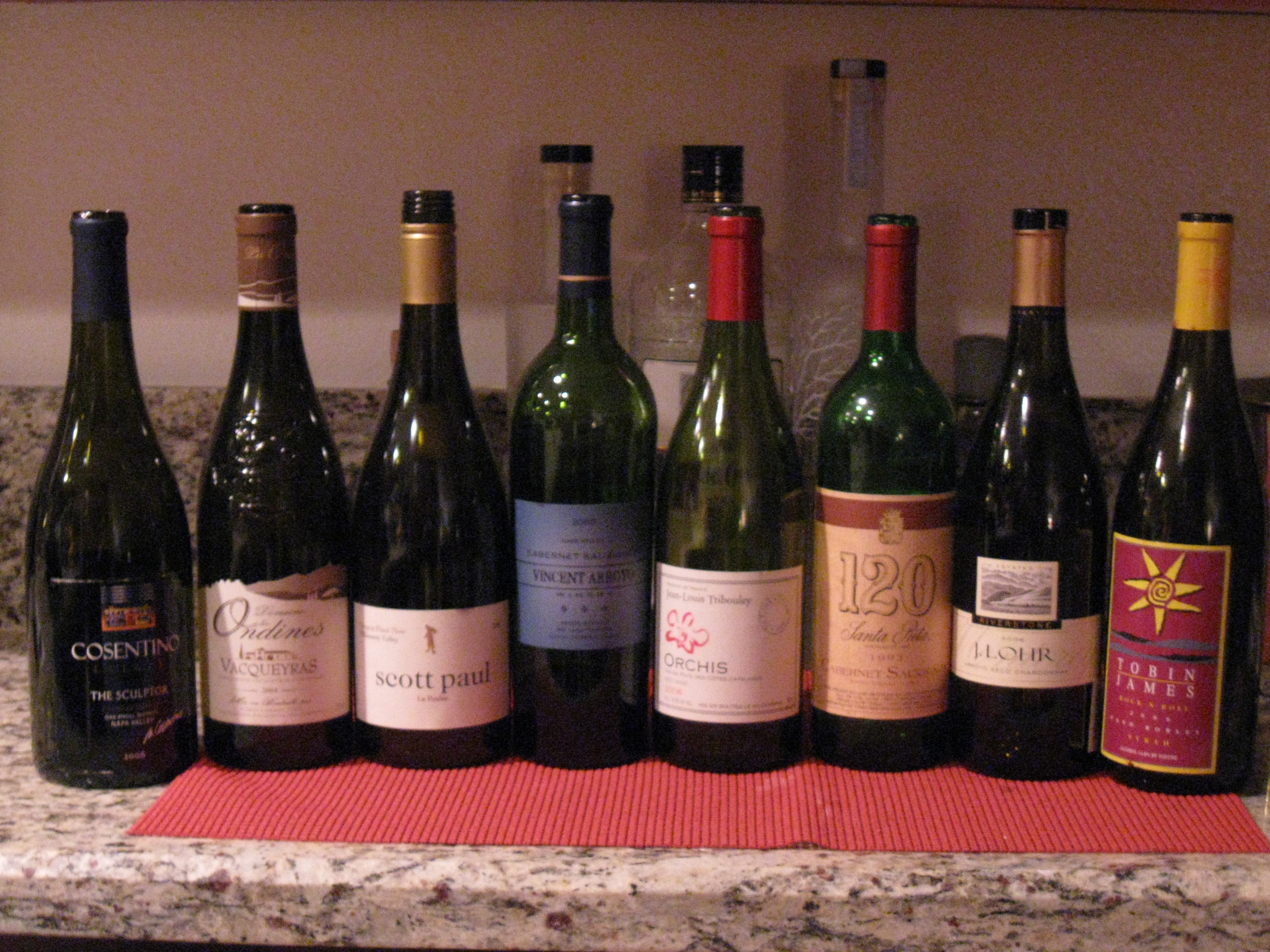 And the 8 bottles of wine we drank.